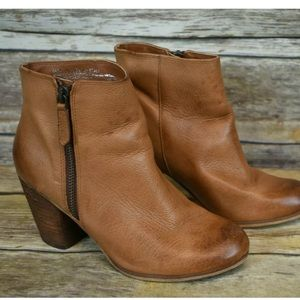 BP from Nordstrom Trolley Tan Leather Ankle Bootie